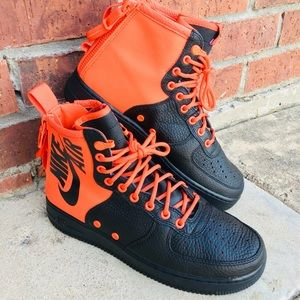 """NIKE AIR FORCE 1 MID """"HABANERO RED BLK"""""""